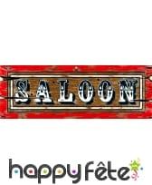 Enseigne de saloon