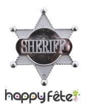 Etoile de sheriff en plastique, 7,5cm, image 2