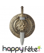 Epée et bouclier de gladiateur bronze