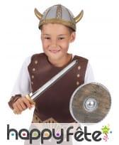 Epée et bouclier de viking pour enfant, image 1