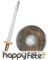 Epée et bouclier de viking pour enfant