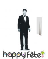 Elvis en costume noir et blanc, carton plat