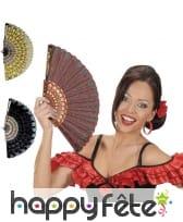 Eventail Espagnol fleuri