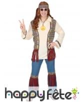 Ensemble hippie avec gilet pour homme adulte, image 1