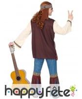 Ensemble hippie avec gilet pour homme adulte, image 3
