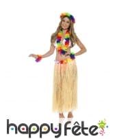 Ensemble Hawaïen fleuri multicolore
