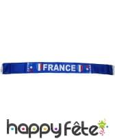 Echarpe imprimé France sur fond bleu, supporter