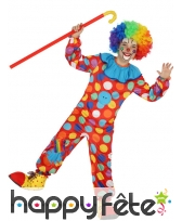 Ensemble multicolore à pois de petit clown