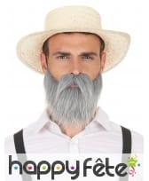 Ensemble moustache et barbe grise