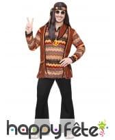 Ensemble marron noir de hippie pour homme, image 1