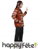 Ensemble marron noir de hippie pour homme, image 2