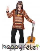 Ensemble marron noir de hippie pour homme