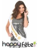 Echarpe Miss univers dorée de 80cm, image 1