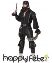 Ensemble noir intégral de pirate pour homme