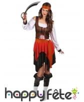 Ensemble piratesse avec corset marron, image 1
