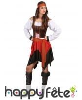 Ensemble piratesse avec corset marron, image 2