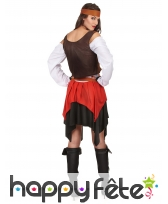 Ensemble piratesse avec corset marron, image 3