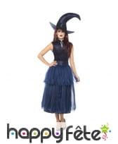 Elégante robe déguisement de sorcière bleue