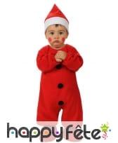 Ensemble rouge de bébé Noël
