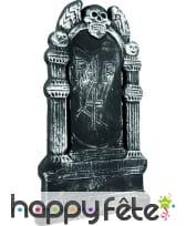 Epitaphe RIP de 50x30cm décor ange squelette