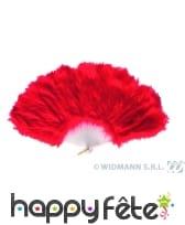 éventail rouge marabout