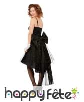 Elegante robe noire avec gros noeud papillon, image 1