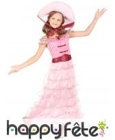 Elegante robe rose ancienne pour petite fille