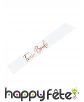 Echarpe Team bride rose et blanche de 75 cm