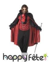 Elegante tenue de vampire avec cape pour homme