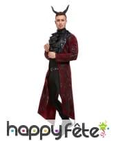 Elegante veste longue de diable, jabot et cornes, image 1