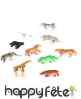 Figurine animaux de zoo, 4/5cm