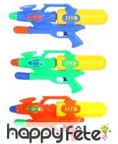 Fusil à eau avec pompe, simple réservoir