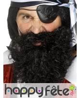 Fausse barbe de pirate avec elastique