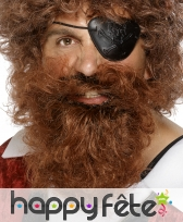 Fausse barbe de pirate chatain roux