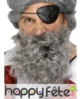 Fausse Barbe grise de pirate avec elastique