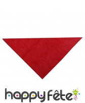 Foulard basque rouge uni et triangulaire