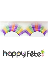 Faux cils disco multicolore