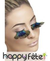 Faux-cils effet plumes de paon