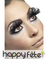 Faux-cils en dentelle noire