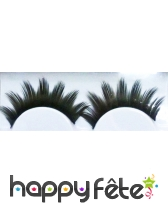 Faux cils noirs girly