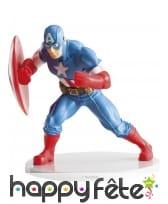 Figurine du Captain America pour gâteau, 9cm