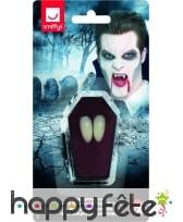 Fausses dents de vampire et pâte de fixation
