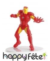 Figurine d'Iron Man de 9cm pour gâteau