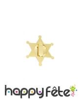 Fausse étoile de shériff dorée de 7,5cm, image 1