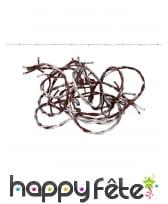 Faux fil barbelé taché de sang, 2,7 m