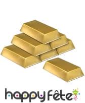 Faux lingots d'or en plastique creux