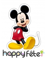 Feuille Mickey Mouse en azyme de 18,4 x 25,7cm