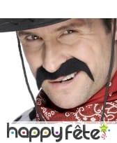 Fausses moustaches noires de cow boy