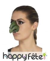 Faux nez vert de sorcière en latex, image 1