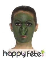 Faux nez vert de sorcière en latex, image 2